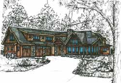 Mountain-or-Rustic Style House Plans Plan: 69-924