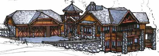 Mountain-or-rustic Style Home Design Plan: 69-925