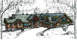 Mountain-or-Rustic Style Floor Plans Plan: 69-926