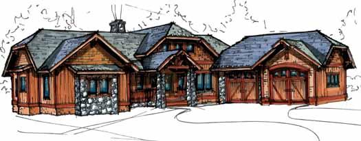 Craftsman Style Floor Plans Plan: 69-927