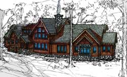 Mountain-or-Rustic Style Floor Plans Plan: 69-928