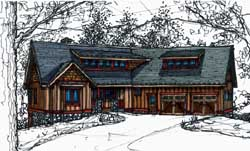 Bungalow Style Home Design Plan: 69-929