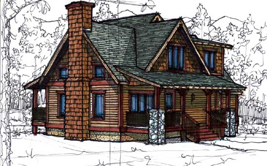 Country Style Home Design Plan: 69-930