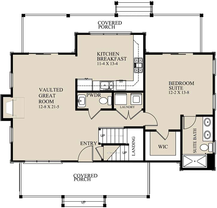 Main Floor Plan: 69-930