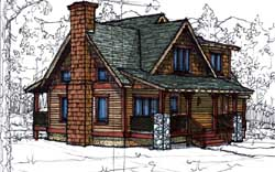 Country Style Floor Plans Plan: 69-930