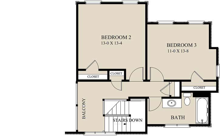 Upper/Second Floor Plan: 69-930