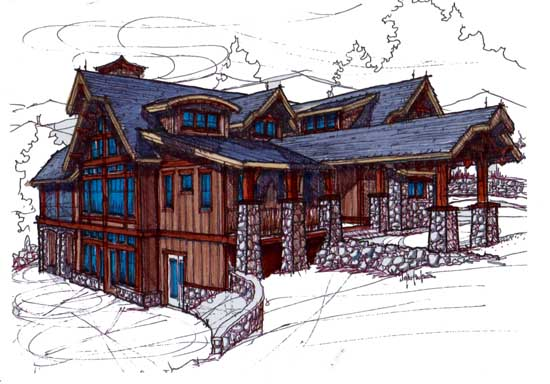 Mountain-rustic House Plan - 5 Bedrooms, 6 Bath, 5106 Sq Ft ... on bungalow log house plans, 6 bedroom model homes, 6 bedroom log homes, 6 bedroom cabin plans, 8 bedroom log house plans, loft log house plans, 3 bedroom log house plans, 6 bedroom mansion plans, 6 bedroom ranch plans, home log house plans,