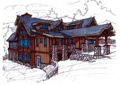Mountain-or-Rustic Style Floor Plans Plan: 69-931