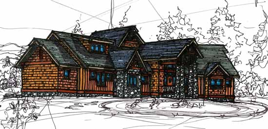 Craftsman Style Home Design 69-932