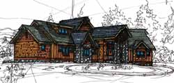 Craftsman Style Home Design Plan: 69-932
