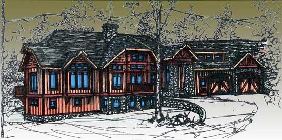 Mountain-or-rustic Style House Plans Plan: 69-934