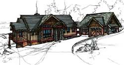 Craftsman Style Home Design Plan: 69-936
