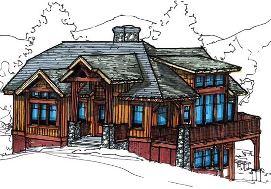 Craftsman Style Home Design 69-937