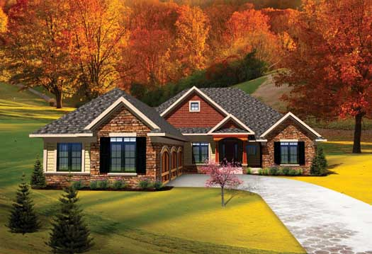 Traditional Style Floor Plans Plan: 7-1027