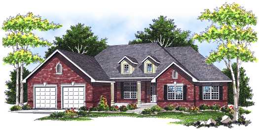 Ranch Style House Plans Plan: 7-103