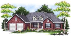 Ranch Style Home Design Plan: 7-103