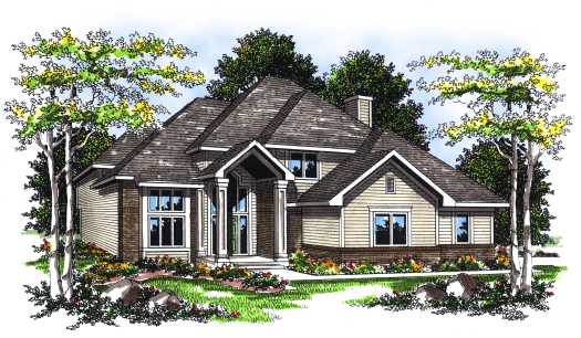 Traditional Style Home Design Plan: 7-104