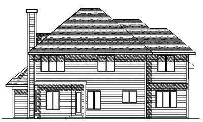 Rear Elevation Plan: 7-104