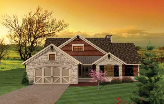 Ranch Style Home Design Plan: 7-1043