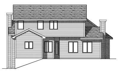 Rear Elevation Plan: 7-105