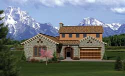 Tuscan Style House Plans Plan: 7-1051