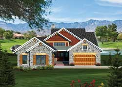 Traditional Style Home Design Plan: 7-1054