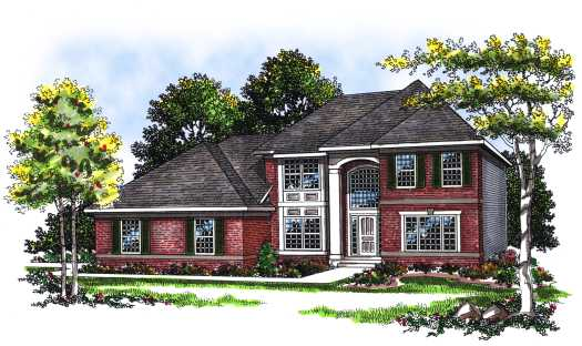 Traditional Style Home Design Plan: 7-106