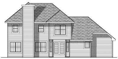 Rear Elevation Plan: 7-106