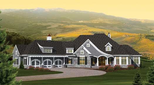 French-country Style House Plans Plan: 7-1062