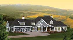 French-Country Style Floor Plans Plan: 7-1062