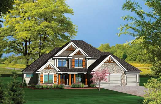 Traditional Style Home Design 7-1064
