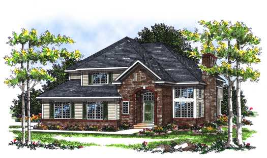 Traditional Style House Plans Plan: 7-107
