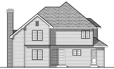 Rear Elevation Plan: 7-107