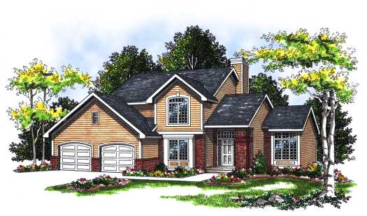 Traditional Style Home Design Plan: 7-108