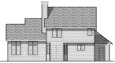 Rear Elevation Plan: 7-108