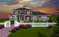 Prairie Style Home Design Plan: 7-1084
