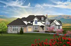 French-Country Style Floor Plans Plan: 7-1086