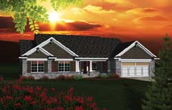 Craftsman Style Home Design Plan: 7-1097
