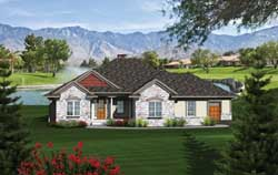 Traditional Style Home Design Plan: 7-1098