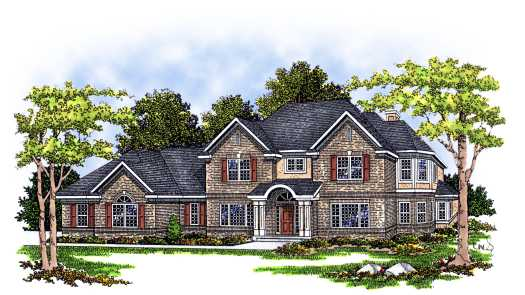European Style Floor Plans Plan: 7-110