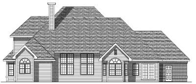 Rear Elevation Plan: 7-110