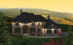 English-Country Style Home Design Plan: 7-1104