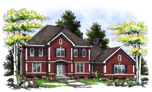 Colonial Style House Plans Plan: 7-111