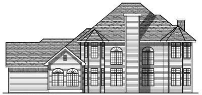 Rear Elevation Plan: 7-111