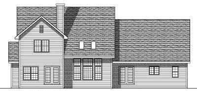 Rear Elevation Plan: 7-112