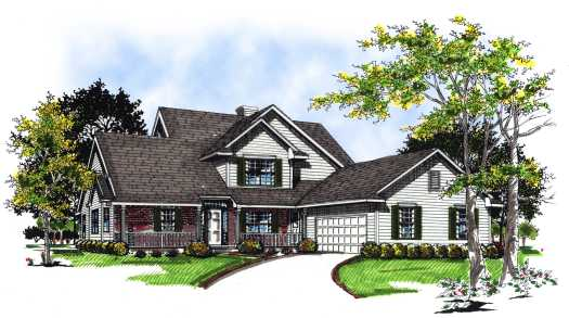 Traditional Style Floor Plans Plan: 7-113