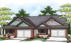 Craftsman Style Home Design Plan: 7-1132