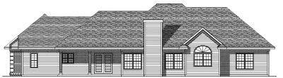 Rear Elevation Plan: 7-114