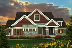 Bungalow Style Home Design Plan: 7-1146