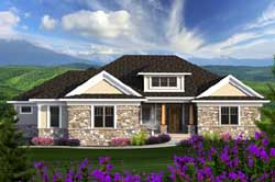 Bungalow Style Home Design Plan: 7-1149